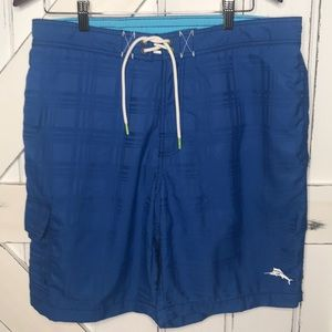 Tommy Bahama Swim Trunks Mens L Royal Blue